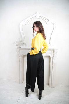 10f8acda43b0 Рубашка женская классическая желтая – купить в интернет-магазине на Ярмарке  Мастеров с доставкой