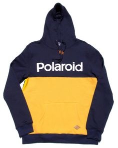 Polaroid Colorblock Logo Hoodie | Altru Apparel x Polaroid's colorblocked hoodie. A new/nostalgic take on the Polaroid Logo. The Polaroid Logo graphic is an homage to the impact instantly processed photos influenced the way the world would be documented. Instant photography was everywhere for the first time and a precursor to the immediacy of image capturing common today.