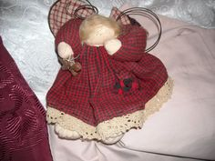 primitive country angel doll christmas decoration decor  gingerbread cookie