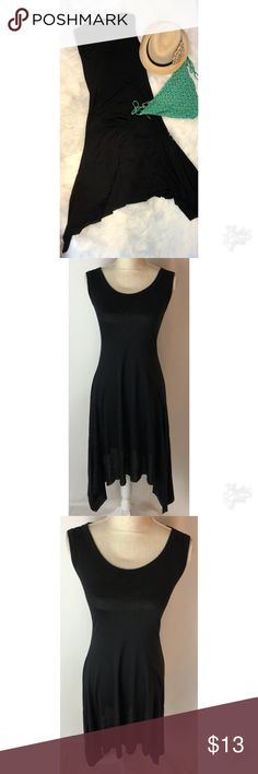 Victoria Secret Medium  Black Beach Dress Victoria Secret Medium  Black Beach Dress. This is perfect to wear over a swim suit or just for a day on the beach. S-Corp neck with handkerchief sides on the bottom. Slightly see through through thin material. Great condition. Victoria's Secret Swim Coverups