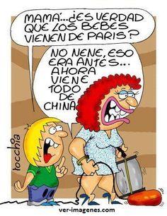Mamá ¿Es verdad que los Niños vienen de París? #humor