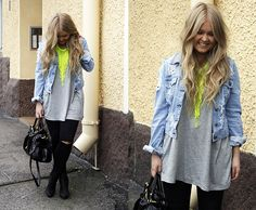 H&M Necklace, Miu Miu Bag, Gina Tricot Denim Jacket, Http://Nofashionvictims.Com Check The Rest From My Blog