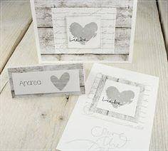 Heute kommt noch mal ein letzter Schwung Hochzeitskarten, hoffe, ihr könnt Weiß, Holzoptik und Grau noch sehen. :-) Achtung, Bilderflu...