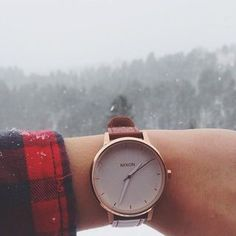 Kensington Leather | Women's Watches | Nixon Watches and Premium Accessories- rose gold/white