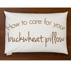 How to keep your buckwheat pillow clean and comfortable for years of use. #buckwheatpillow