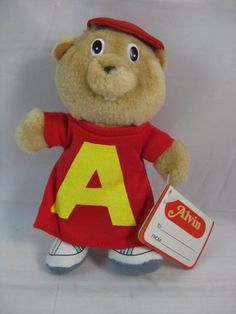 Vintage 80s Alvin & The Chipmunks Plush Toy - I remember getting this at a birthday party in preschool ... It was inside a giant balloon and it was awesome!