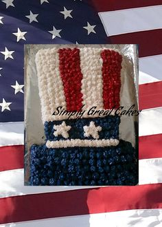 Fourth of July Cake Check out my website to order your cake today! http://simplygreatcakes.wix.com/simply-great-cakes