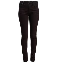 Nudie Jeans Black High Kai High Rise Skinny Jeans L32 | Women's Jeans | Liberty.co.uk