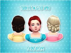 Lana CC Finds - Toddler Twisted Updo