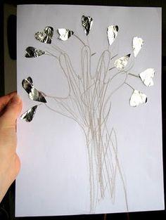 """julie ♥ adore dimanche: collage """"arbre d'amour"""""""