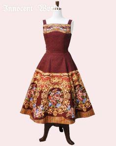 Innocent World 宮殿の薔薇フレアージャンパースカート