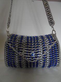 Pop Tab Crafts, Soda Can Crafts, Pop Tab Purse, Coin Purse, Crochet Rings, Knit Crochet, Pop Can Tabs, Soda Tabs, Pop Cans