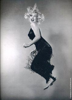 Marilyn ~ jumping for joy