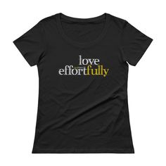 Love Effortfully Women's Sheer Scoopneck Tee