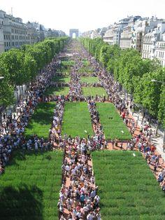 Champs elysées as a garden