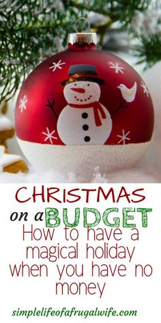 You can have Christmas on a budget and it can still be a magical holiday! Learn how to have a cheap Christmas. Saving Money For Christmas, Christmas Presents For Kids, Cheap Christmas Gifts, Christmas On A Budget, Magical Christmas, Christmas Shopping, Christmas Holidays, Christmas Bulbs, Christmas Decorations