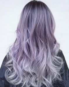 Lavander to gray ombre