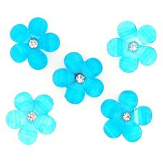 Blue Bayou Flats Buttons- we this (7,79 BRL) ❤ liked on Polyvore featuring flowers, fillers, backgrounds, blue and effects