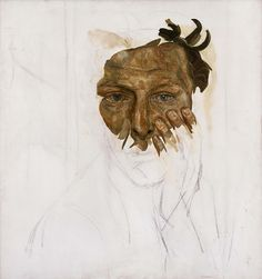 givesgoodface:  Lucian Freud - Self Portrait