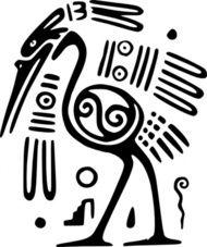 ancient,mexico,motif,bird,clip