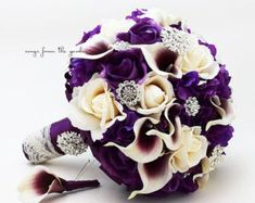 Calla Lilies Wedding Package-Picasso Purple Calla Lilies Silk   Etsy Bridal Bouquet Fall, Flower Bouquet Wedding, Bridal Bouquets, Lavender Bouquet, Lily Bouquet, Purple Bridesmaid Bouquets, Bridesmaids, Purple Calla Lilies, Calla Lily