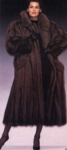 long fisher fur coat