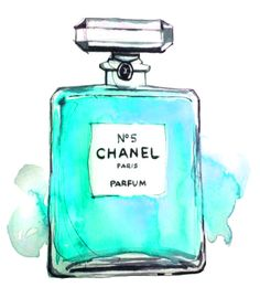 Chanel No. 5 primp-me-proper Chanel No 5, Chanel Art, Decoupage, First Perfume, Chanel Perfume, Fashion Painting, Collage, My New Room, Tiffany Blue