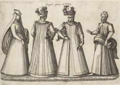 Espagnole bourgeoise de Tolède; Recueil de costumes étrangers par J.-J. Boissard 1581.