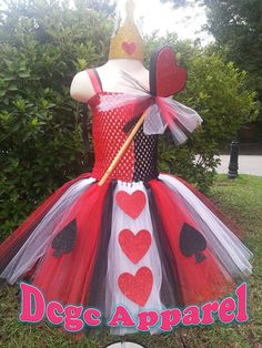 DCGC Queen of Heart Alice and Wonderland inspired Tutu by DCGC, $30.00