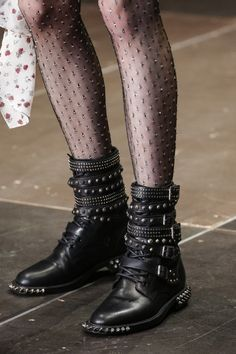 Saint Laurent Fall 2013 RTW - Details - Fashion Week - Runway, Fashion Shows and Collections - Vogue Fall Booties, Bootie Boots, Shoe Boots, Ankle Boots, Biker Boots, Punk Boots, Combat Boots, Flat Boots, Motorcycle Boots