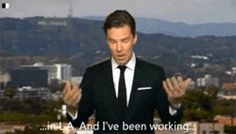 He likes business on top, party on the bottom. | 31 Reasons We're Addicted To Benedict Cumberbatch