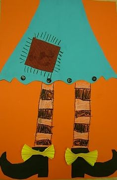Art project inspired by the book Miss Nelson is Missing! from the we heart art blog...looks like a good cutting lesson.