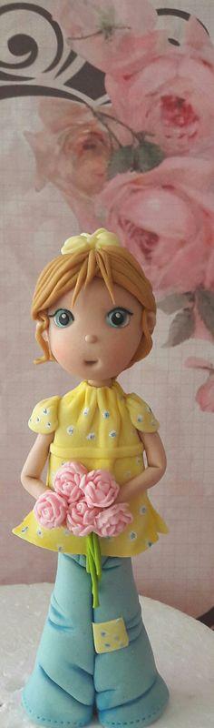 Little fondant girl By Something sweet