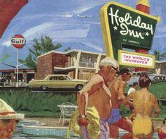 holiday inn  vintage  vacation  illustration