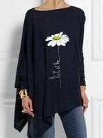Not sure about the Daisy, but I like the neckline and shape of this Boho Outfits, Fashion Outfits, Womens Fashion, Dress Over Pants, Long T Shirt Dress, Looks Plus Size, Shirt Bluse, Casual T Shirts, Mode Style
