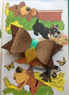 Items similar to Lady Dog Bow on Etsy Foam Crafts, Craft Foam, Diy Leather Bows, Disney Hair Bows, Bow Template, Custom Bows, Glitter Crafts, Making Hair Bows, Diy Bow