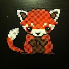 Red panda perler