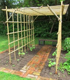 this is perfect for squash and melons.  Also easy to take down.