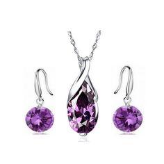 Purple Water Drop