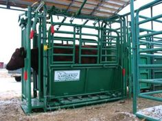 This is the squeeze chute we are getting for our new corral.