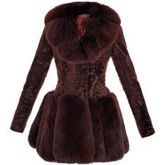 Alexander McQueen Astrakhan and fox fur coat-dress