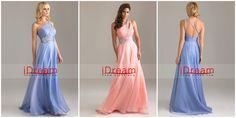 A Line One Shoulder long Chiffon Beading Sequins Elegant Prom Dresses