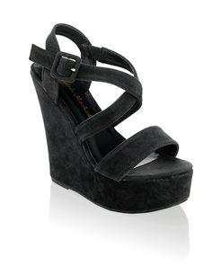 Andres Machado Keil-Sandalette - schwarz - Gratis Versand | Schuhe | Wedges | Online Shop | 1482803460