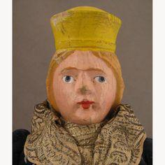 "Vintage 17"" Wooden Queen Doll"
