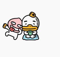 Apeach Kakao, Kakao Friends, Line Friends, Emoticon, Funny Stickers, Tube, Gifs, Characters, Random