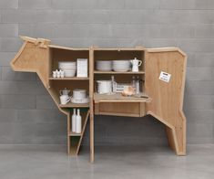 Sending Animals Wooden Furniture Cow design by Seletti