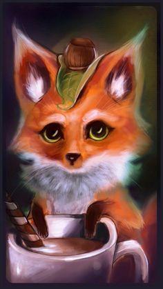hazulnut coffee fox by dream-cup.deviantart.com on @DeviantArt