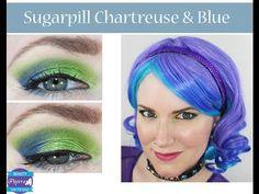 Sugarpill Chartreuse and Blue Tutorial via @Phyrra #crueltyfree #beauty #green #blue