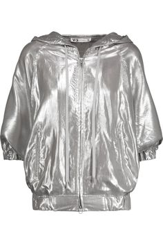 Y-3 + Adidas Originals Mesh-Trimmed Lamé Hooded Jacket. #y-3 #cloth #jacket