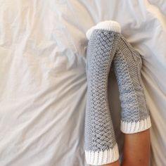 Parker Cable Crochet Socks crochet pattern by Lakeside Loops